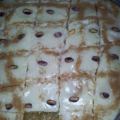 Fıstıklı Kremli Kek