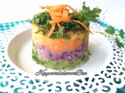 Renkli Patates Salatası