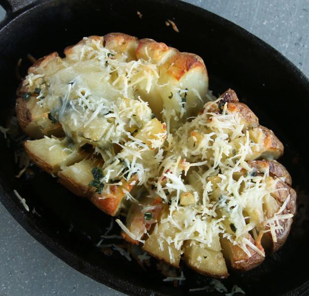 fırında çiçek patates
